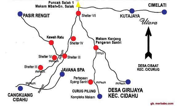 Beberapa Rute, Jalur Pendakian Gunung Salak